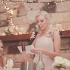 Bridesmaid giving speech at IronBark Hill Vineyard